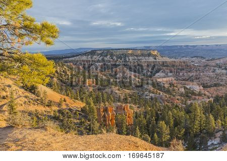 Morning view from Sunrise Point at Bryce Canyon National Park in Southern Utah.