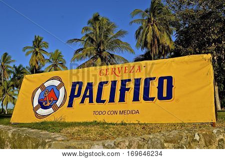 AZATLIN, MEXICO, January 27, 2017:  First brewed in 1900, Cerveza Pacífico, is a Mexican pilsner-style beer named so because the Pacífico brewery is located in the Pacific Ocean port city of Mazatlán, in the state of Sinaloa, México.