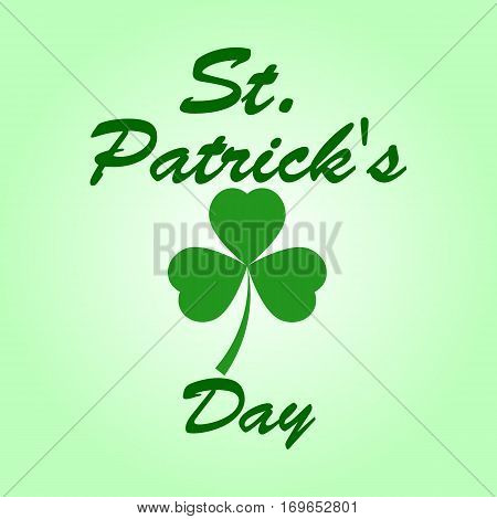 Patrick s day Clover leaf on a white background