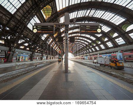 Stazione Centrale Platforms In Milan