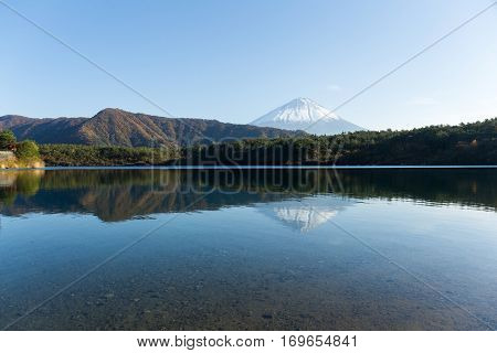 Mount Fuji and Saiko Lake