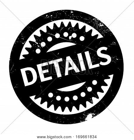 Details rubber stamp. Grunge design with dust scratches. Effects can be easily removed for a clean, crisp look. Color is easily changed.