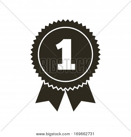 seal stamp with number one over white background. vector illustration