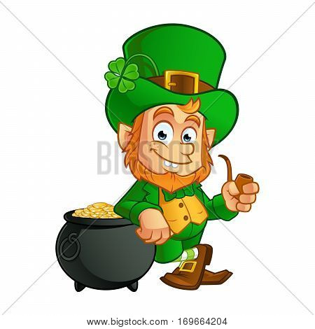 Leprechaun, vector illustration of St. Patrick's Day