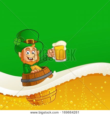 Leprechaun, vector illustration of St. Patrick's Day
