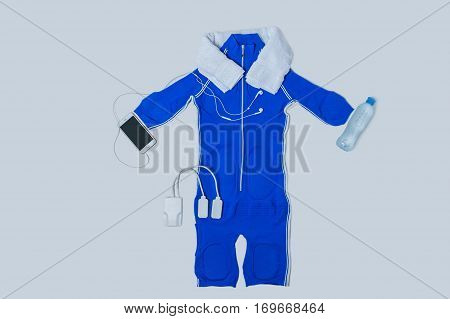 beautiful electric sports suit in the studio on a white background