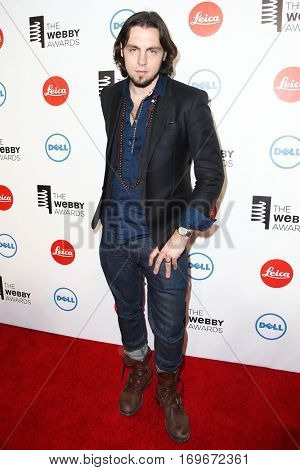 NEW YORK-MAY 19: Creator of SHFTY, Christiano Covino, attends the 18th Annual Webby Awards at Cipriani Wall Street on May 19, 2014 in New York City.