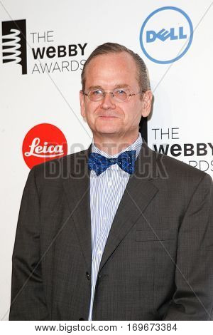NEW YORK-MAY 19: Founder, Creative Commons, Professor Lawrence Lessig attends the 18th Annual Webby Awards at Cipriani Wall Street on May 19, 2014 in New York City.