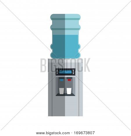 dispenser of  water  icon over white background. colorful desing. vector illustration