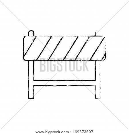 Under construction barrier icon vector illustration graphic design