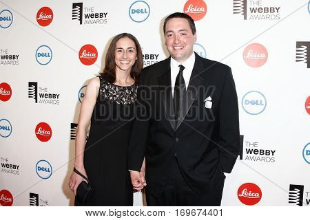 NEW YORK-MAY 19: Author Greg Pembroke (R) and wife Charity Pembroke attends the 18th Annual Webby Awards at Cipriani Wall Street on May 19, 2014 in New York City.
