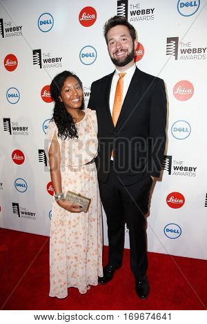 NEW YORK-MAY 19: Sabriya Stukes (L) and co-founder of Reddit Alexis Ohanian attend the 18th Annual Webby Awards on May 19, 2014 at Cipriani Wall Street in New York City.
