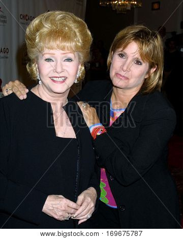 LOS ANGELES -AUG 19:  Debbie Reynolds, Carrie Fisher at the Chicago Themed Fashion Show to Benefit St. Judeâ??s Hospital at a hotel on August 19, 2003 in Beverly Hills, CA