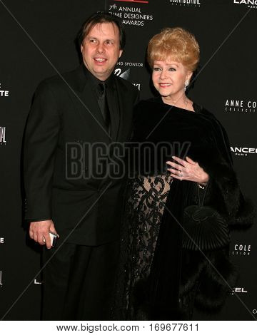 LOS ANGELES -FEB 19:  Debbie Reynolds, Todd Fisher arrive at the Costume Designerâ??s Guild Awards at a Beverly Hill hotel  on February 19, 2005 in Beverly Hills, CA