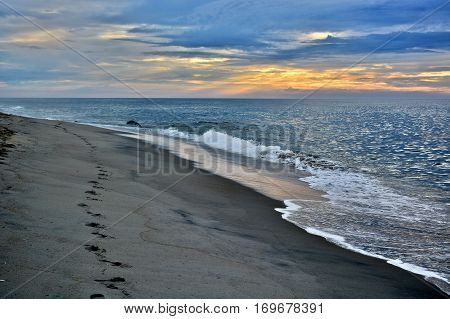 Relaxing and Breathtaking Summer Sunrise at the Shore