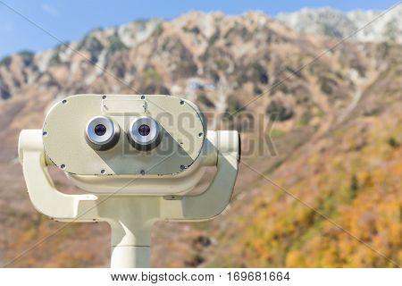 Binocular viewer with beautiful landscape