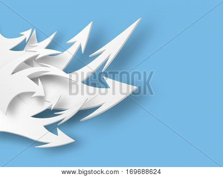 Flow of arrows. Business concept. Vector illustration
