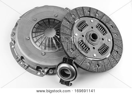 clutch kit for the car on a white background