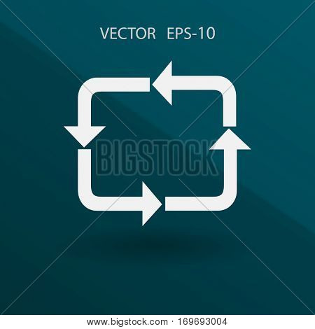Flat icon of cyclic. vector illustration