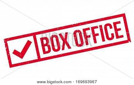 Box Office rubber stamp. Grunge design with dust scratches. Effects can be easily removed for a clean, crisp look. Color is easily changed.