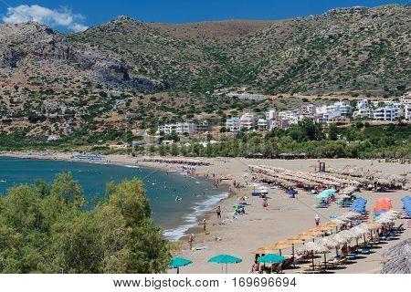 Paleochora beach in Crete. Greece. Lybian sea