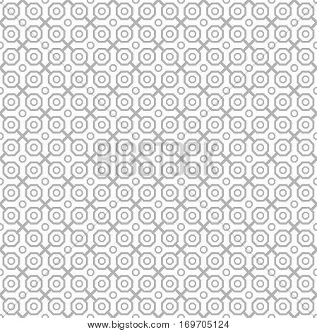 Geometric light silver abstract vector octagonal background. Geometric abstract ornament. Seamless modern pattern