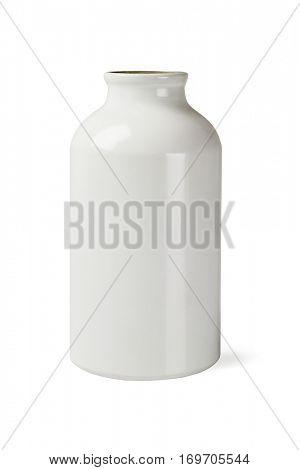 Metal Bottle on White Background