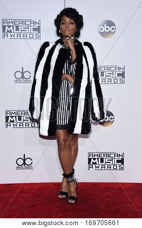 LOS ANGELES - NOV 20:  Janelle Monae arrives to the American Music Awards 2016 on November 20, 2016 in Hollywood, CA