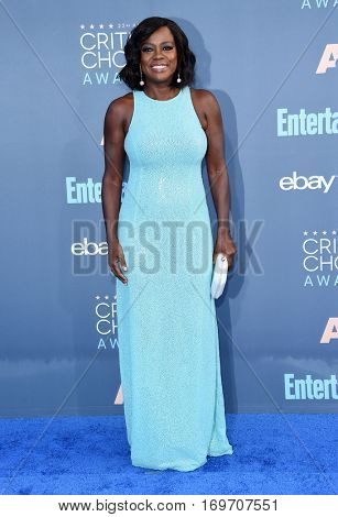 LOS ANGELES - DEC 11:  Viola Davis arrives to the Critics' Choice Awards 2016 on December 11, 2016 in Hollywood, CA
