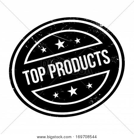 Top Products rubber stamp. Grunge design with dust scratches. Effects can be easily removed for a clean, crisp look. Color is easily changed.