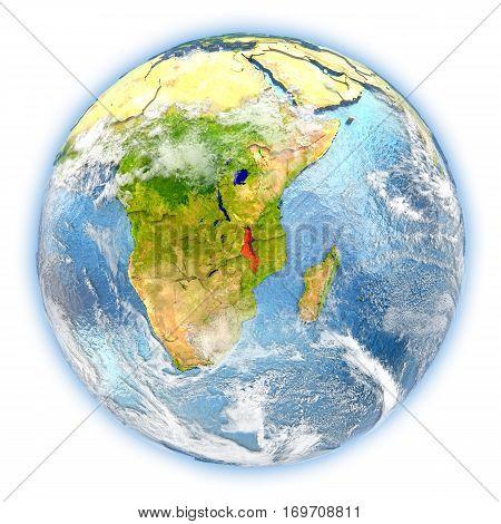 Malawi On Earth Isolated