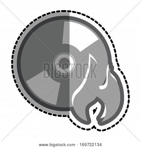 cd with flame icon vector illustration design