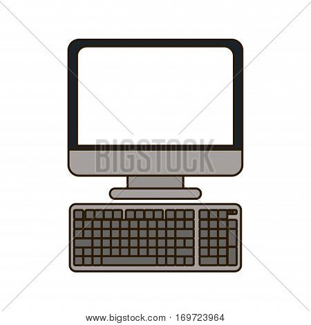 desktop computer image design, vector illustration icon