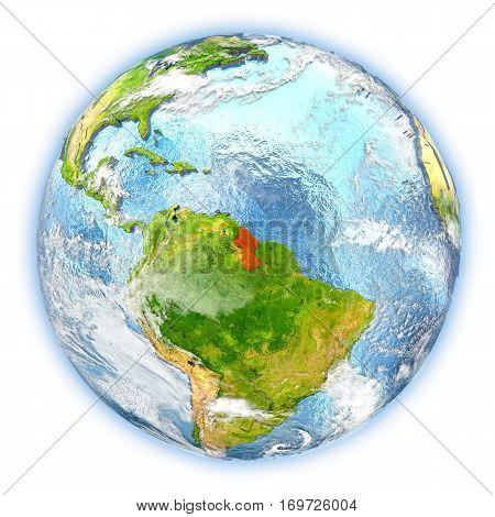 Guyana On Earth Isolated