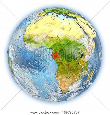 Gabon On Earth Isolated