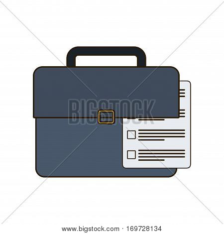 suitcase with document related icon, vector illustration image