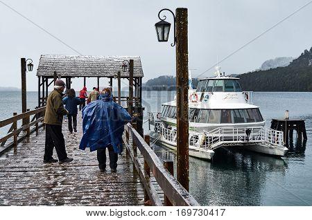 People In The Docks Of Bahia Mansa
