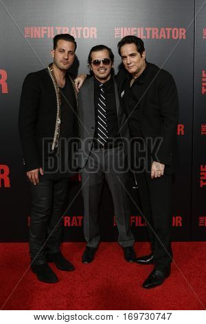 NEW YORK-JUL 11: (L-R) Director Brad Furman, John Leguizamo and Yul Vazquez attend