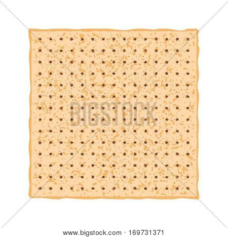 Vector illustration of Matzo. Matza from the Jewish holiday Passover.