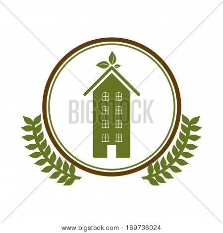 symbol home care environment image, vetor illustration