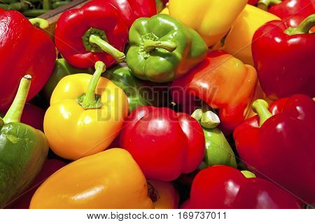 Close up of bell peppers