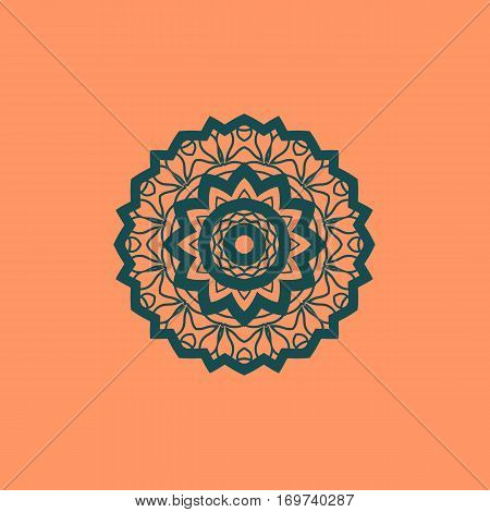 Beautiful Indian floral seamless ornament print. Ethnic Mandala Fabrik. Vector Buddhism style Meditation Print. Suitable for textile, greeting card background, coloring book, phone case print. Copyspace.