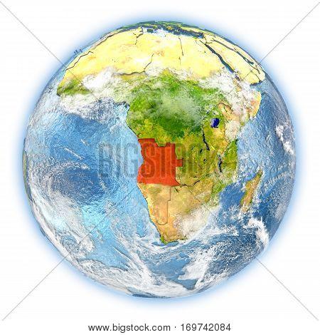 Angola On Earth Isolated