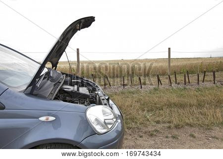 Car Broken Down in Countryside