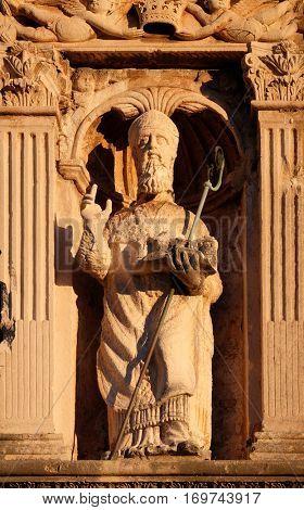 DUBROVNIK, CROATIA - NOVEMBER 29: St. Blaise patron of Dubrovnik, Croatia on November 29, 2015.