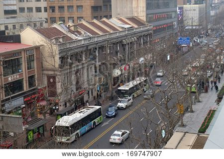 SHANGHAI - FEBRUARY 28: Ruijin Road has a mixture of colonial and modern elements of Shanghai's history, in Shanghai, China, February 28, 2016.