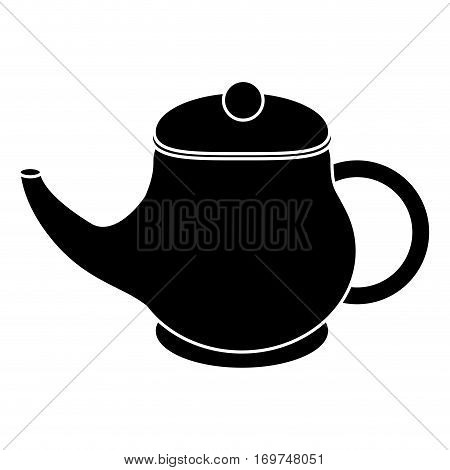 kettle tea breakfast drink pictogram vector illustration eps 10