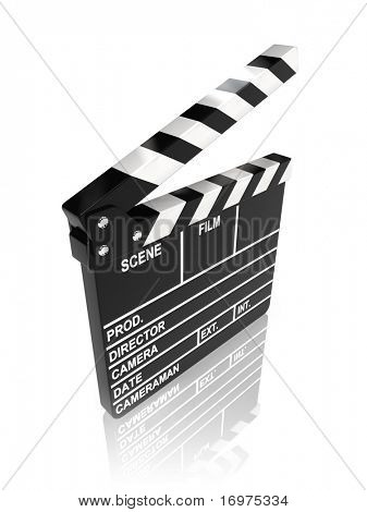 Movie clapper board