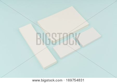 Blank Gift Card on blue background