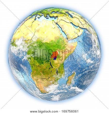 Uganda On Earth Isolated